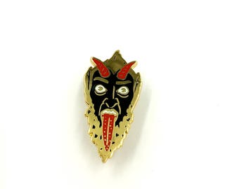 MERRY KRAMPUS Lapel Pin- Limited Edition
