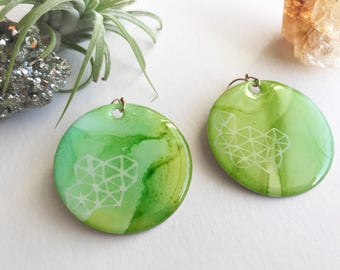 """1.5"""" Round Statement Earrings 