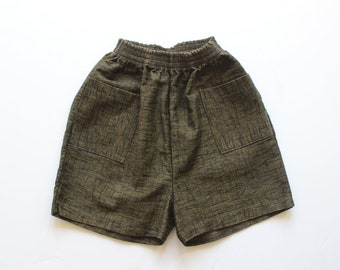 FRENCH vintage 60's / for boys / summer shorts / printed cotton / new old stock / size 10/12 Years