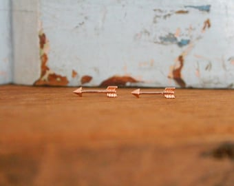 Delicate Rose Gold Arrow Earrings | Dainty Arrow Jewelry