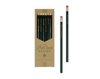 Plant Lover Series Pencil Set - Pencils | Gold Foil | Stamped | Stationery