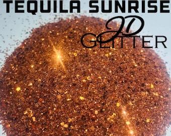 Tequila Sunrise Chunky Glitter Mix   2oz   