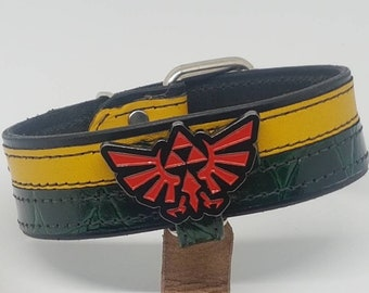"Hand made ""Zelda"" leather collar"