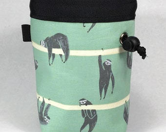 Chalk bag, Sloth, Climbing Chalk Bag, Chalk bag Climbing, Rock Climbing Chalk bag, Chalkbag, Climbing Gear, Sloth Chalk bag, Green