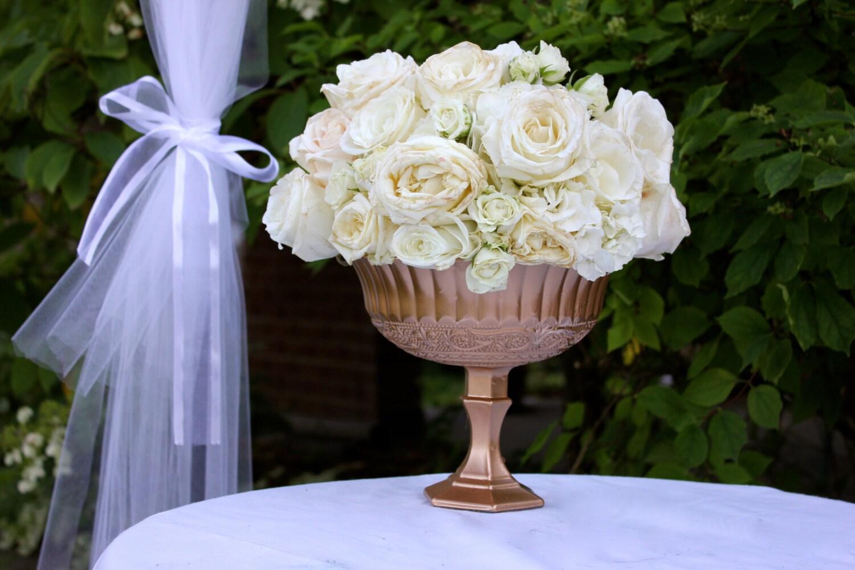 Bronze pink gold compotes pedestal vase wedding centrepieces zoom reviewsmspy