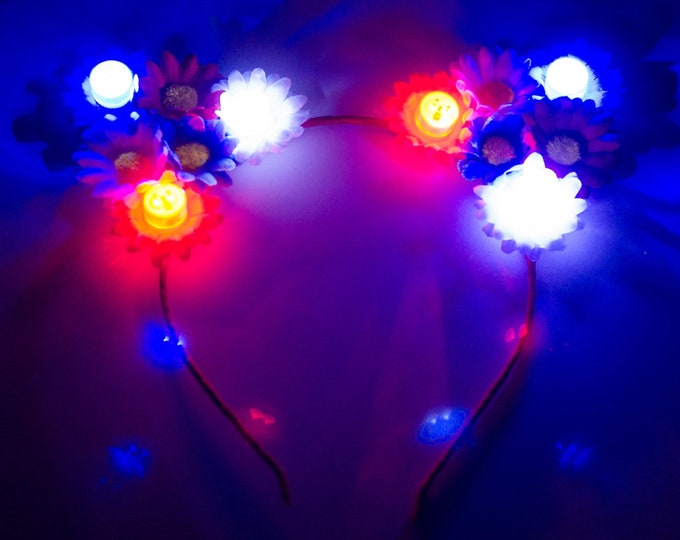 Patriotic LED Cat Ear Headband