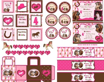 Horse party, Horse birthday  party,  Pony birthday party, Pony party Horse invitation Pony invitation1 digital printable