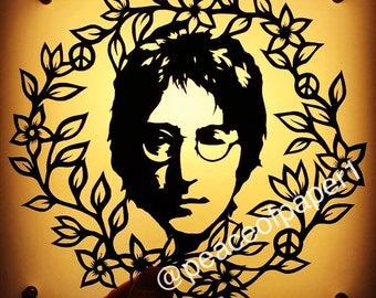 John Lennon papercut template - for personal use
