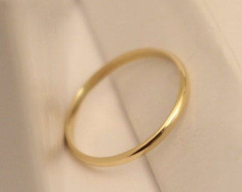 14k half round ring, 14k yellow gold half round ring, 14k white gold ring, 14k gold ring, 14k thumb ring, 14k wedding ring, 14k wedding band