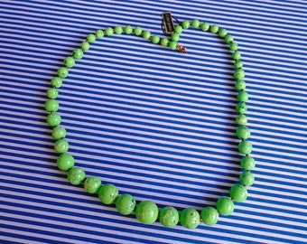 Green Lucite Necklace
