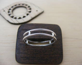 Double Band Ring Silver Handmade Jewelry
