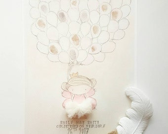christening fingerprint keepsake print