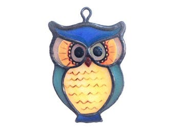Owl Stained Glass Necklace, Pendant & Accessory