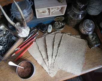 Rooibos Mix 2 - Handmade vegetal paper - Made from Rooibos - 5 sheets