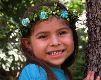 Easter Flower Crowns - Easter Flower Girl Crowns, Flower Boho Crown, Floral Crown Baby, Crowns, Baby Photo Prop Headbands, Flower Crowns