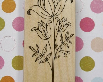 Tall Flower - Hero Arts Rubber Stamp