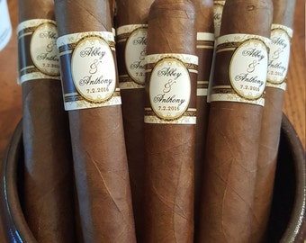 Cigar Bands - Grooms Gift - Wedding Party and Groomsman Cigar Bands - Wedding Reception Cigars - Smokers Bar - Cigar Station