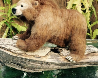Needle Felted Grizzly Bear, Ursula