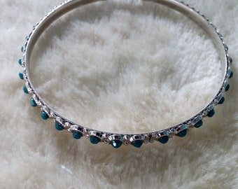 Dark Green, Bead Pattern Bracelet