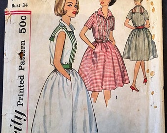 Simplicity 4427 Vintage 1950's Dress Sz 14