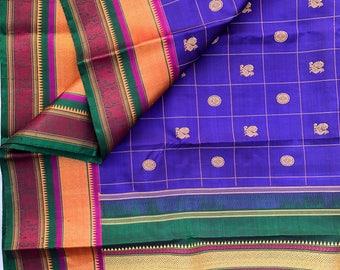 A Threadwork Kanjeevaram Silk Saree - Wedding Special