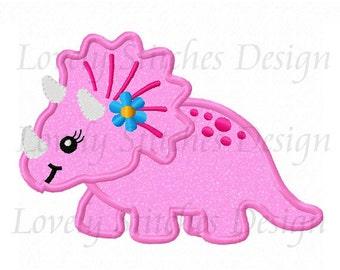 Girl dinosaur Applique Machine Embroidery Design NO:0516