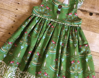 Christmas dress for baby, toddler girls - Holiday dress - Christmas outfit - holiday outfit - green Christmas dress - boutique Christmas