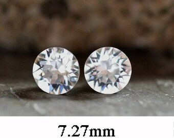 7.27mm, Crystal Studs, Rhinestone Stud Earrings, Xirius, Swarovski, Crystal Stud Earrings, April Birthstone, Birthstone Earrings, Rostone