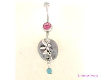 Fairy belly button ring , Navel ring, Belly button Jewelry, Belly button piercing, Belly button ring