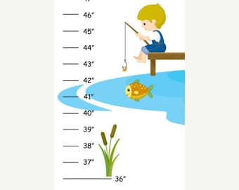 Personalized Gone Fishing Growth Chart