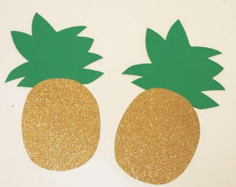 Pineapple banner for birthday, bridal shower, bridal shower, summer party, summer events etc