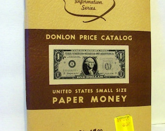 Vintage Paper Money Price Catalog 1st Edition  bx4   80618394  Free Shipping in USA
