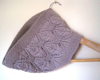 Lydia Lace & Cable Cowl knitting pattern - Instant Download PDF