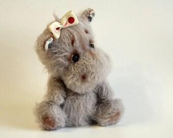 Crochet Hippo, Amigurumi Hippo plush, Stuffed Hippo toy
