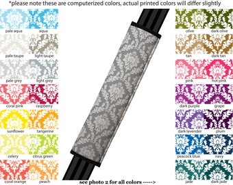 Seat Belt Cover // AUTO PAD // Car Accessories // seat belt pad - Damask - Pick Your Own Color - Custom Customized seatbelt floral pattern