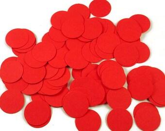 Funfetti Confetti  Large Dots in Red Quantity 250