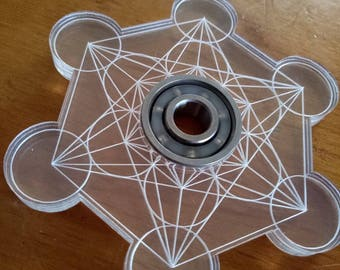 Metatrons Cube - Vector Fidget Spinners With Bearing - Sacred Geometry