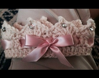 Pretty Royal Crochet Crown Fit For a Princess .