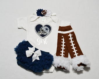 dallas cowboys baby girl outfit - baby girl dallas cowboys outfit - girls cowboys outfit - dallas cowboys baby gift  dallas cowboys football