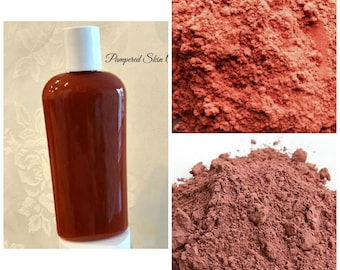 Sandalwood Rose Shampoo & Skin Wash - Ultimate Scalp/Skin Exfoliate, Cystic Acne, Intense Deep Cleaning, All in 1 Detox, Skin/Scalp Repair,