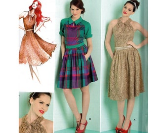 Simplicity 1755 Leanne Marshall Womens Retro Style Dress Sewing Pattern Size 4 6 8 10 12 Bust 29 1/2 - 34 inches UNCUT Factory Folded