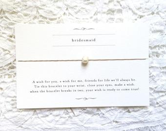 Bridesmaid Wishing Bracelet
