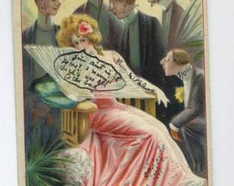 Pretty Lady Postcard - 1910 - Series 1500