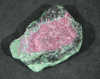 A 100% Natural Red RUBY Crystal In A Deep Green Zoisite Matrix! Tanzania 49.7gr