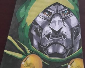 Dr. Doom portrait (print)