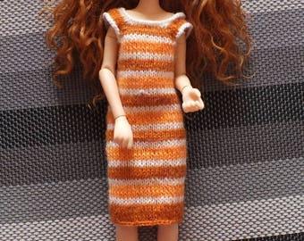 Doll Striped Dress Any Size
