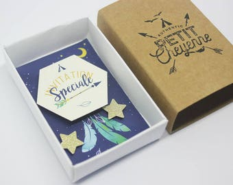 Box invitation - little Cheyenne