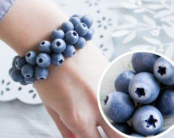 Blueberry bracelet, blue bracelet,  berry bracelet, berry Jewelry, blueberry Jewelry, blue Jewelry