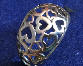 Sterling silver heart ring  size 7  VJSE