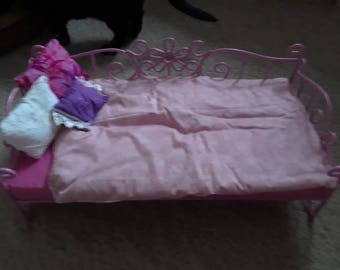 18 inch doll bed  daybed pink